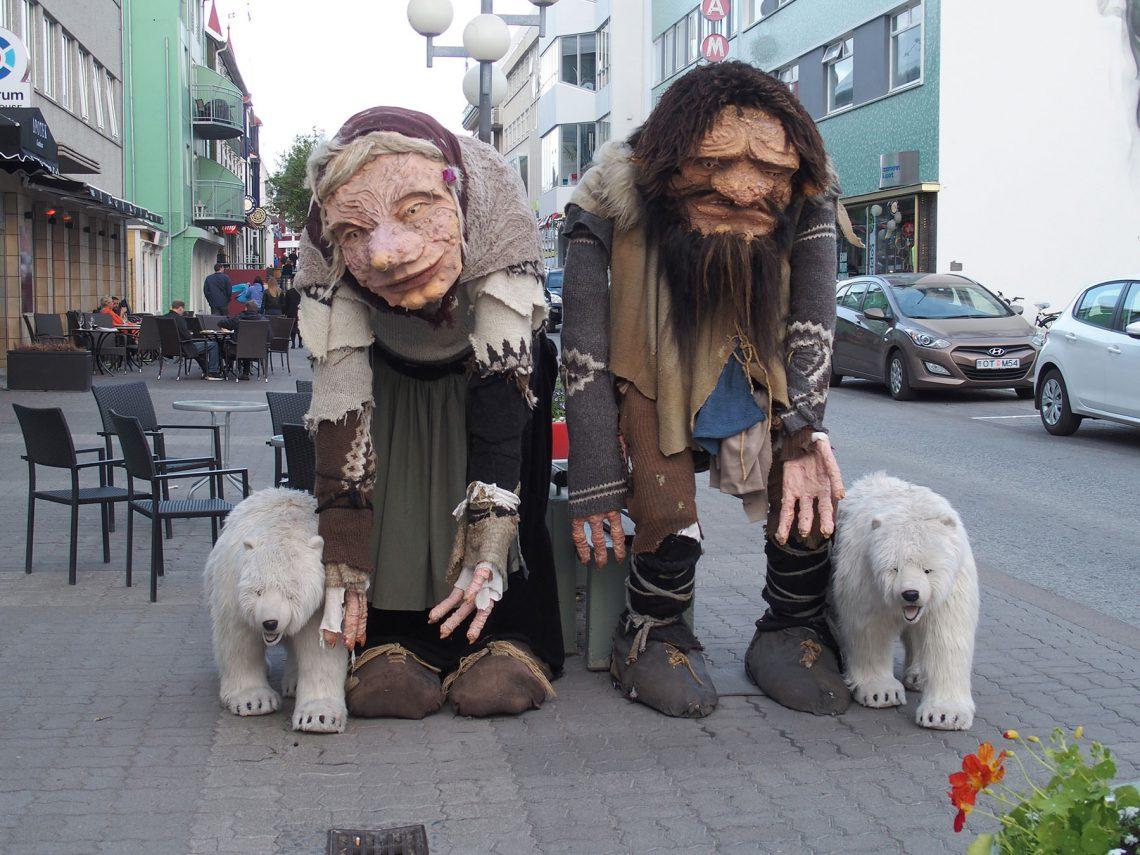 Trolle, Figuren, Akureyri, Fußgängerzone