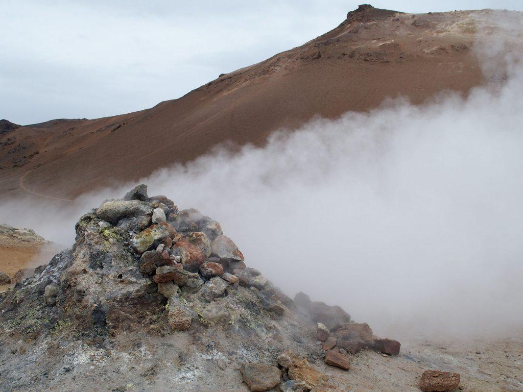 Wolke, Dampf, Berg, Namafjall, Island
