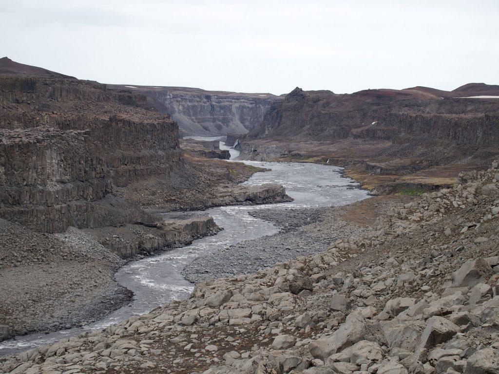 Schlucht, Steine, Fluss, Island